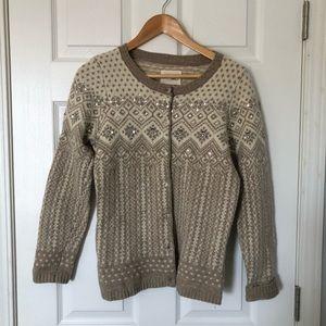 Telluride Clothing Lambswool Embellished Cardigan
